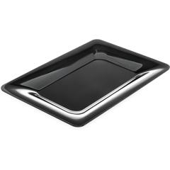"""CFS4441403CS - Carlisle - Designer Displayware Wide Rim Rectangle Platter 14"""" x 10"""" - Black"""
