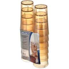 CFS5216-8213CS - CarlisleStackable Cash 'n Carry SAN Tumbler 16 oz (12/pk) - Amber