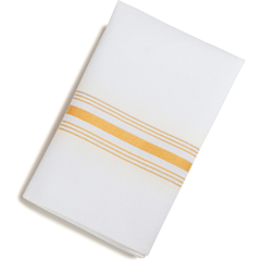 "CFS53771822NH008CS - Carlisle - SoftWeave Bistro Striped Napkin 18"" x 22"" - Gold"