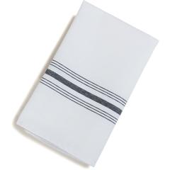 "CFS53771822NH014CS - Carlisle - SoftWeave Bistro Striped Napkin 18"" x 22"" - Black"