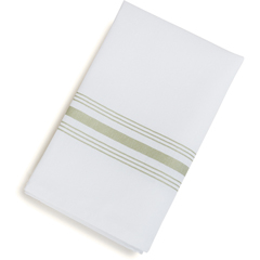 "CFS53771822NH147CS - Carlisle - SoftWeave Bistro Striped Napkin 18"" x 22"" - Sage"