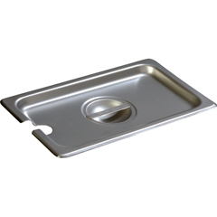 CFS607140CSCS - CarlisleDuraPan Quarter-Size Stainless Steel Hotel Pan Slotted Handled Cover