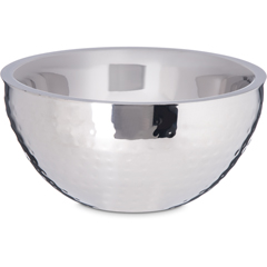 "CFS609201CS - Carlisle - Dual Angle Bowl w/Hammered Finish 1.7 qt / 8"" - Stainless Steel"