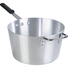 CFS61710CS - CarlisleStandard Weight Tapered Sauce Pan With Removable Dura-Kool Sleeves 10qt - Aluminum