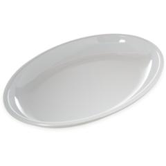 "CFS791802CS - Carlisle - Displayware 4 qt Oval Platter 19-3/16"" x 13-3/4"" - White"
