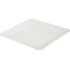 "CFS792602CS - Carlisle - Displayware Square Medium Scalloped Tray 17""SQR - White"