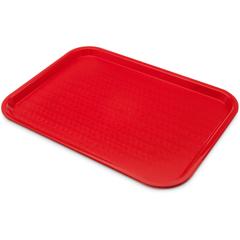 """CFSCT1216-8105CS - CarlisleCafe® Fast Food Cafeteria Tray 12"""" x 16"""" - Cash  Carry (6/pk) - Red"""