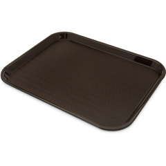 "CFSCT1418-8169CS - CarlisleCafe® Fast Food Cafeteria Tray 14"" x 18"" - Cash  Carry (6/pk) - Dark Brown"