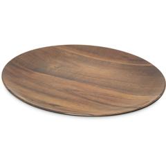 "CFSEAG0469CS - Carlisle - Epicure® Acacia Grain Oval Platter 18"" x 15"" - Dark Woodgrain"