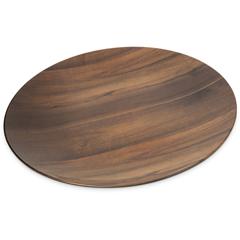 "CFSEAG1069CS - Carlisle - Epicure® Acacia Grain Round Platter 19.25"" - Dark Woodgrain"