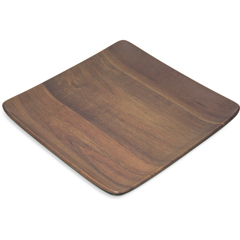 "CFSEAG1169CS - Carlisle - Epicure® Acacia Grain Square Tray 9"" x 9"" - Dark Woodgrain"