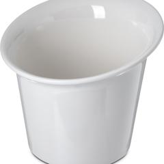 """CFSHAL0202CS - CarlisleHalcyon Flair Rim Appetizer Cup 5.5"""" - 18 oz - Bone"""
