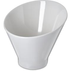 "CFSHAL0602CS - Carlisle - Halcyon Angled Appetizer Cup 6"" - 16 oz - Bone"