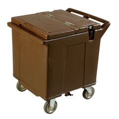 CFSIC225001CS - CarlisleCateraide Ice Caddy (2 Rigid Casters, 2 Swivel Casters) - Brown