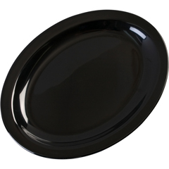 "CFSKL12703CS - Carlisle - Kingline Melamine Oval Platter Tray 12"" x 9"" - Black"