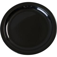 "CFSKL20103CS - Carlisle - Kingline Melamine Sandwich Plate 7.25"" - Black"