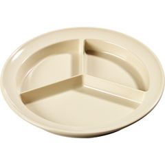 CFSKL20325CS - Carlisle - Kingline Melamine 3-Compartment Deep Plate 8.75 - Tan