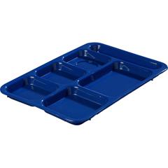 "CFSP614R14CS - Carlisle - Right-Hand 6-Compartment Tray 14"" X 10"" - Blue"