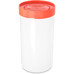 CFSPS602N24CS - Carlisle - Stor N' Pour® Quart Backup Container w/ Assorted Color Caps 1 Quart - Orange