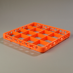 CFSRE16C24CS - CarlisleOpticlean 16-Compartment Divided Extender - Orange
