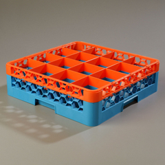 CFSRG16-1C412CS - CarlisleOpticlean 16-Compartment with 1 Extender - Orange-Carlisle Blue