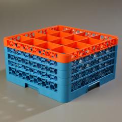 CFSRG16-4C412CS - CarlisleOpticlean 16 Compartment with 4 Extenders - Orange-Carlisle Blue