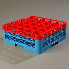 CFSRG25-2C410CS - CarlisleOpticlean 25-Compartment with 2 Extender - Red-Carlisle Blue