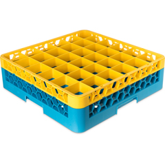 CFSRG36-1C411CS - CarlisleOpticlean 36-Compartment with 1 Extender - Yellow-Carlisle Blue