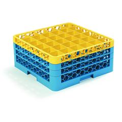 CFSRG36-3C411CS - CarlisleOpticlean 36-Compartment with 3 Extenders - Yellow-Carlisle Blue