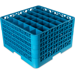 CFSRG36-514CS - Carlisle - 36-Compartment Divided Glass Rack with 5 Extenders  - Blue