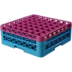 CFSRG49-2C414CS - CarlisleOpticlean 49-Compartment with 2 Extenders - Lavender-Carlisle Blue