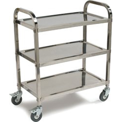 CFSUC4031529 - Carlisle3 Shelf Knockdown Stainless Steel Utility Cart