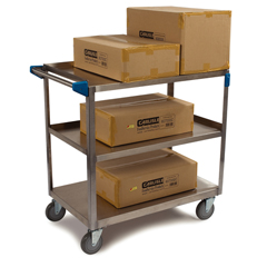 CFSUC7032133EA - Carlisle - 3 Shelf Stainless Steel Utility Cart