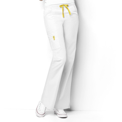 CID5026A-WHT-XS - WonderWinkRomeo - 6-Pocket Flare Leg Pant
