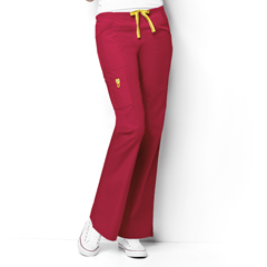 CID5026A-RED-XS - WonderWinkRomeo - 6-Pocket Flare Leg Pant