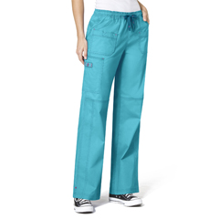 CID5108A-AQU-XL - WonderWinkFaith Multi-Pocket Cargo Pant