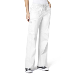 CID5108X-WHT-3XL - WonderWinkFaith Multi-Pocket Cargo Pant
