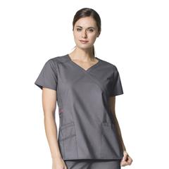 CID6308A-PEW-MD - WonderWinkCharity Fashion Y-Neck Top