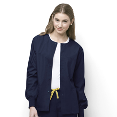 CID8006A-NVY-MD - WonderWinkDelta - Snap Front Jacket