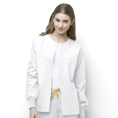 CID8006A-WHT-MD - WonderWinkDelta - Snap Front Jacket