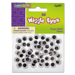 CKC344102 - Creativity Street® Round Black Wiggle Eyes