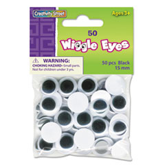 CKC344302 - Creativity Street® Round Black Wiggle Eyes