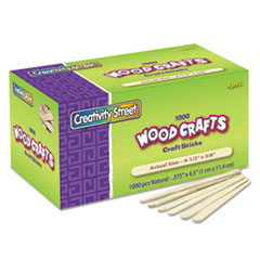 CKC377501 - Chenille Kraft® Natural Wood Craft Sticks