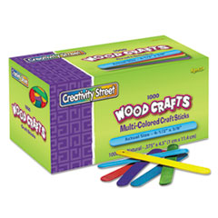 CKC377502 - Chenille Kraft® Colored Wood Craft Sticks