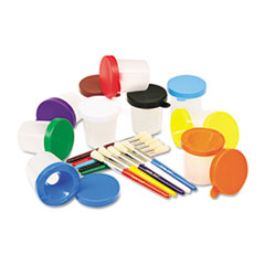 CKC5104 - Creativity Street® No-Spill Paint Cups and Brushes Pack