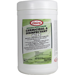 CLA989 - ClaireBroad Spectrum Germicidal & Disinfectant Wipes