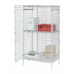 NEXSU2448Z - Nexel IndustriesPoly-Z-Brite™ Wire Security Shelving Unit