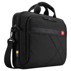 CLG3201434 - Diamond 17 Laptop Briefcase, 17.3 x 3.2 x 12.5, Black