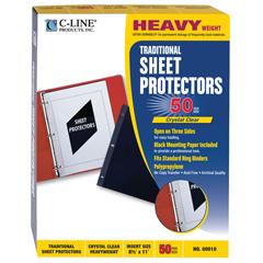 CLI00010BNDL2BX - C-Line ProductsHeavyweight Traditional Poly Sheet Protectors, 11 x 8 1/2