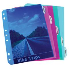 CLI03730BNDL18ST - C-Line ProductsMini Size 5-Tab Poly Index Dividers, Assorted Colors